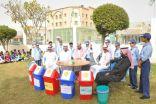 """أكثر من 550 طالب ببقيق يطلقون  مبادرة """"  نبيها تدوم """" لحفظ النعمة"""