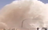 انفجار خط مياه التحلية الرئيسي في #الرياض