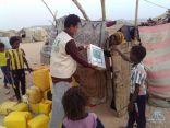#مركز_الملك_سلمان_للإغاثة يوزع 2200 كرتون تمور في مديريتي نصاب وحطيب بمحافظة شبوة