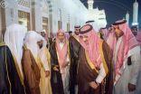 بالصور .. ولي العهد يزور المسجد النبوي