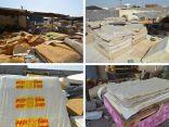"""حملات """"التجارة"""" تغلق المقر الرابع لإنتاج مراتب الاسفنج الملوث في جدة"""