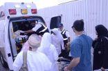 بالصور .. #صحة_الاحساء تعلن نجاح خطة إخلاء المصابين العمانيين إلى المطار