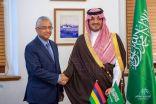 وزير الداخلية يعقد جلسة مباحثات مع رئيس مجلس الوزراء بموريشيوس