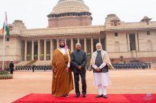 الرئاسة الهندية تستقبل #ولي_العهد في قصر الرئاسة بنيودلهي