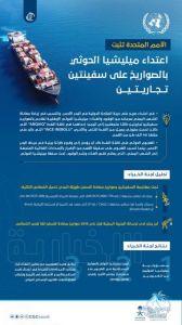 #الأمم_المتحدة تثبت اعتداء ميليشيا الحوثي بالصواريخ على سفينتين تجاريتين