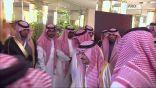 شاهد بالفيديو .. لحظة وصول ولي العهد الى أستاد الملك فهد