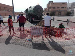 """تجاوباً مع """" الإخبارية مباشر إدارة المياه تنهي مشكلة التسرب في بلدة المقدام"""