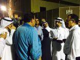 """وزير الصحة يزور أسر ضحايا حريق """" أرامكو """""""