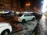 بالفيديو والصور .. الأمطار تكشف عيوب التصريف في شوارع  الأحساء .. و المياه تشل حركة المرور