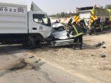 """بالصور .. وفاة مقيم وإصابة آخر في حادث مروري على طريق """" بني معن """""""