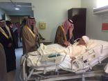 بالصور .. أمير الشرقية يزور مصابي حادث مسجد الرضا الارهابي