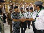 الحربي يلتقي بالكشافة المتطوعين في المسجد الحرام