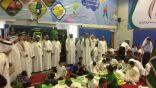 """بالصور .. """" بالغنيم """" يرعى الحفل الوطني والمرسم الحر في ابتدائية الأمير محمد بن فهد"""