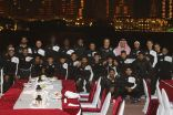 """بالصور .. """" الحماد """" يقيم مأدبة عشاء لبعثة """" هجر """" في الدوحة"""