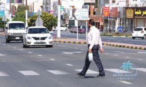 المرور : عقوبة مرورية للمشاة لعدم التقيد بالاشارة الخاصة
