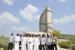 """#تقنية_الأحساء : متدربين في زيارة لمركز الملك عبد العزيز الثقافي العالمي """"إثراء"""""""