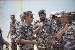 قائد قوات أمن المنشآت يتفقد محطات قطار المشاعر المقدسة
